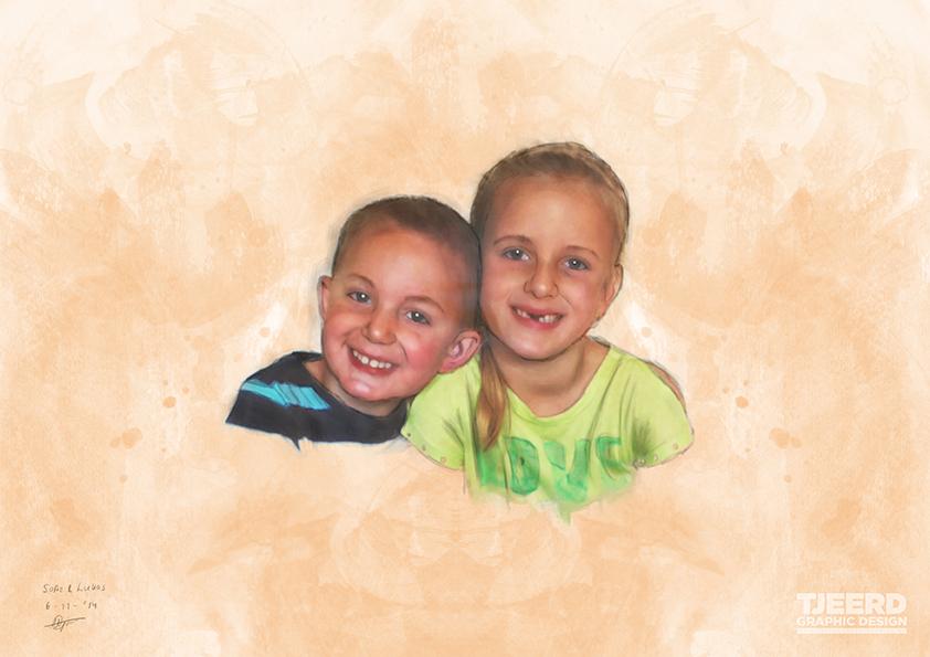 Digitaal Portret 'Sofie & Lukas'